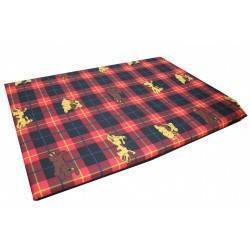 Cushioned Flat Red Tartan