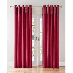 Velvet Border Red Eyelet