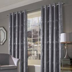 Margo Velvet Ringtop Champagne Grey Curtains