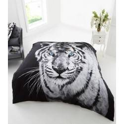 3D Polar Tiger Black Throw Blanket