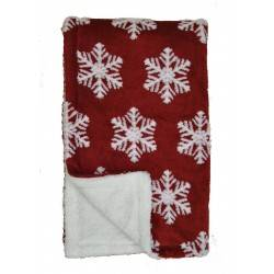 Snowflake Red Super Soft Throws
