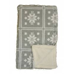 Snowflake Grey Super Soft Throws