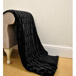 Ripple Black Soft Throws