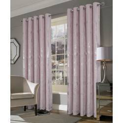 Margo Velvet Ringtop Curtains Pink